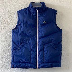 ✅Boys Lacoste Puff Vest Jacket Size L 12